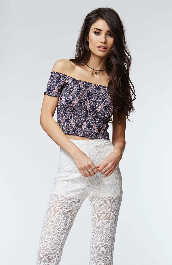 Kendall & Kylie Smocked Cropped Top ($30)