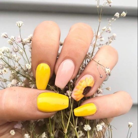 Sunflower Nail Art Ideas