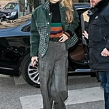 Gigi wore a Cienne sweater, Nina Ricci pants, and Gentle Monster sunglasses.