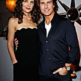 Tom Cruise posed with Katie Holmes for a W magazine party in January 2011.