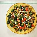 Dinner: Cauliflower Crust Pesto Chicken Pizza