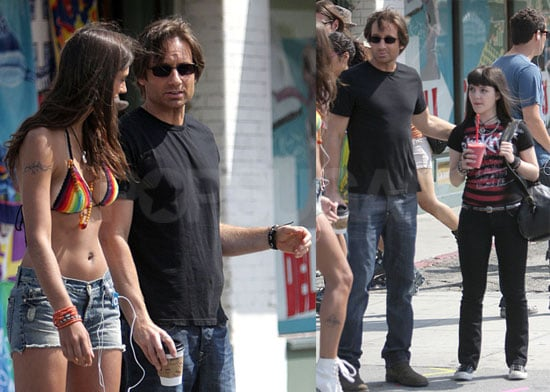 Photos of David Duchovny on the Set of Californication