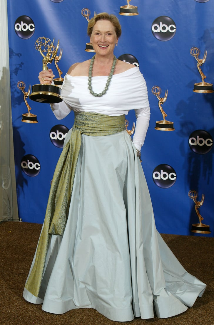 Meryl Wore A Tri Colored Wrap Dress To The 2004 Emmy