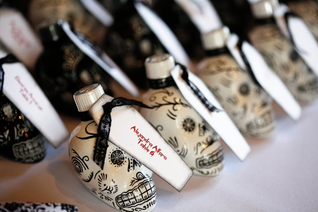 Make Your Wedding Favors Double As Place Cards Halloween Wedding