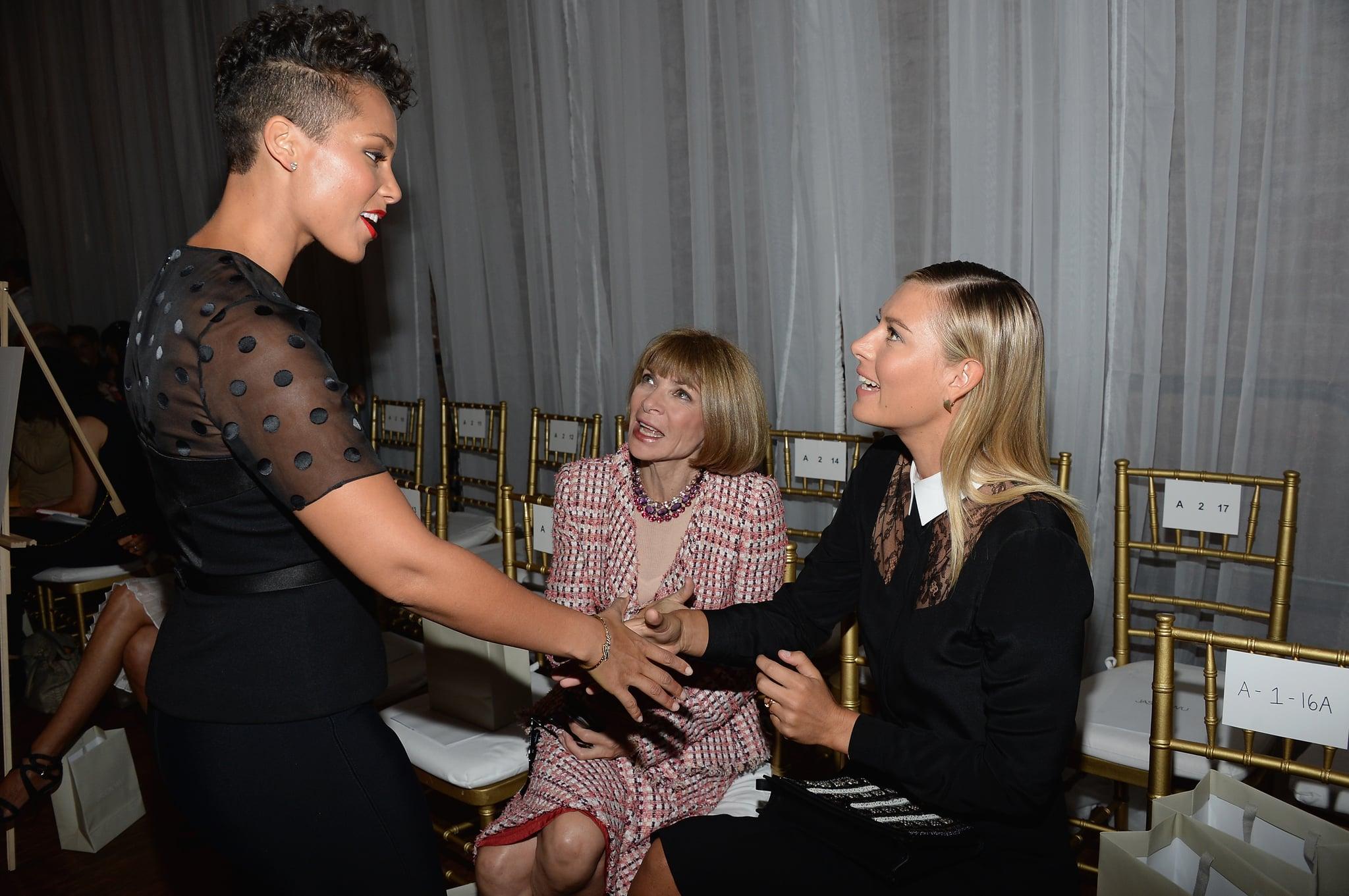 Alicia Keys and Maria Sharapova