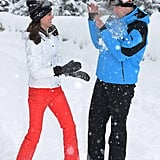Will and Kate were adorable as they played in the snow.