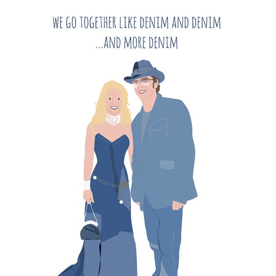 Justin and Britney Card