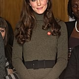 Kate smiles sweetly at Centrepoint, the charity important to Princess Diana.