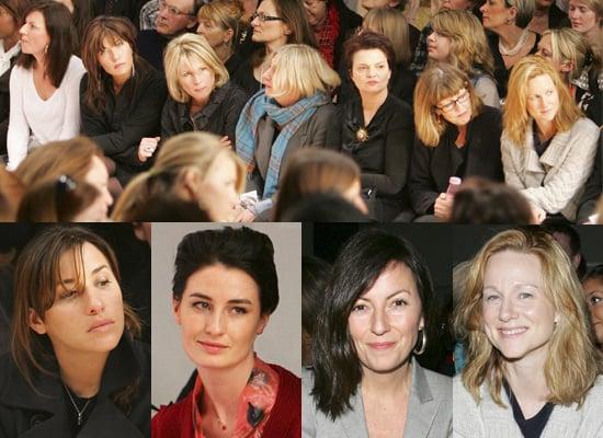 Celebrities at Betty Jackson's 2008 London Fashion Week Show