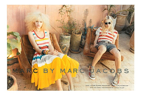 Ginta Lapina,Andrej Pejic for Marc by Marc Jacobs, by Juergen Teller