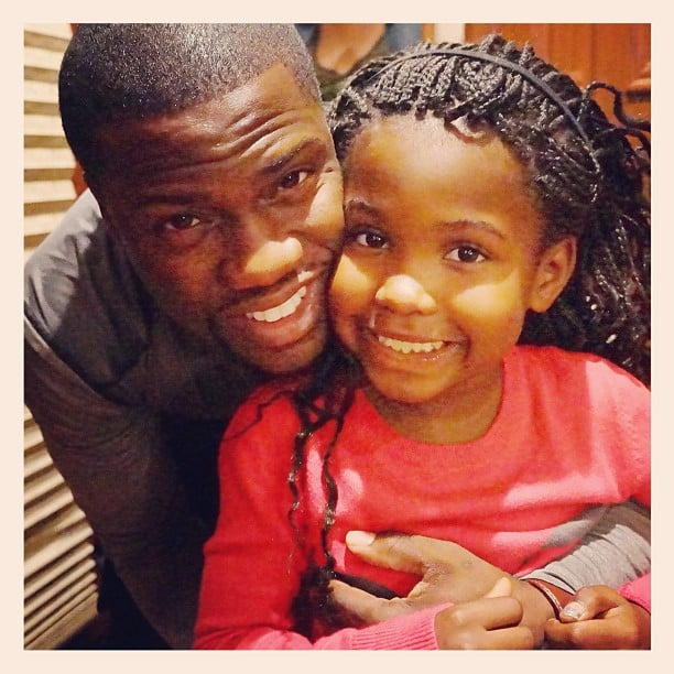"Kevin Hart took a photo with his ""daddy's girl."" Source: Instagram user kevinhart4real"