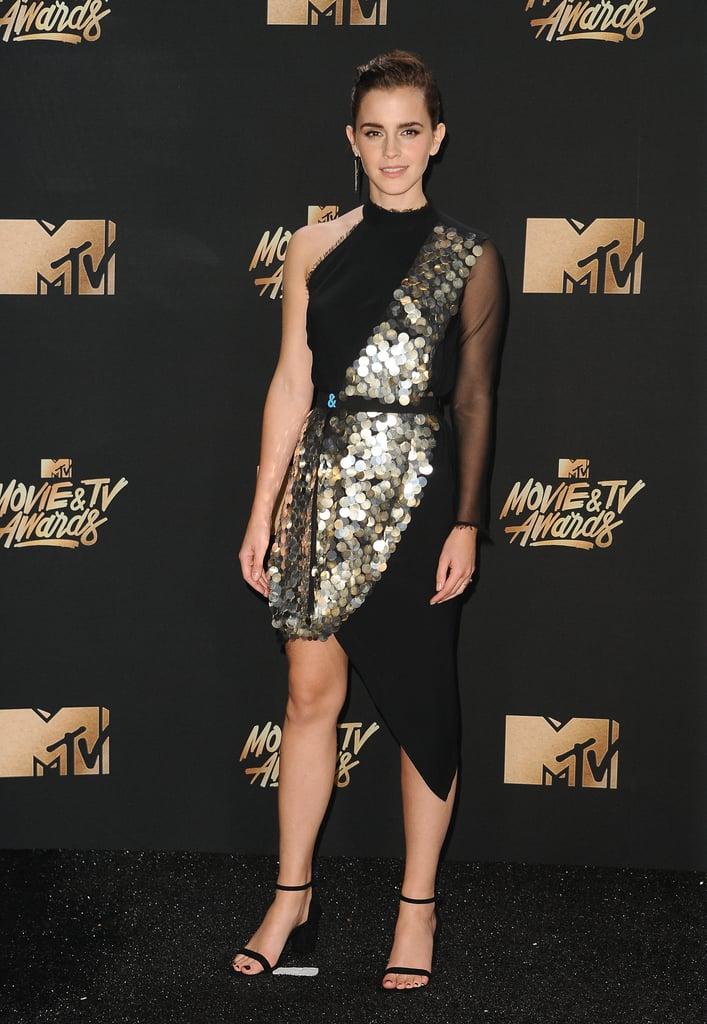 Emma Watson's Black Dress 2017 MTV Movie and TV Awards