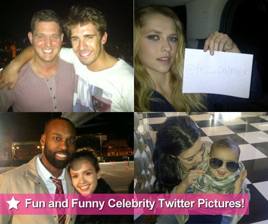 Fun and Funny Celebrity Twitter Pictures From Teresa Palmer, Jessica Alba, Kim Kardashian and More