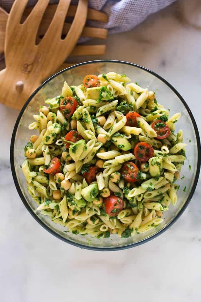 Spinach-Avocado Pasta Salad