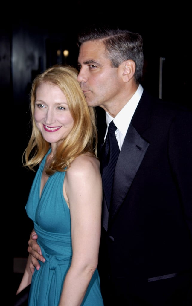 Patricia Clarkson got a sweet kiss from George Clooney ...