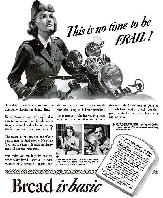 Vintage World War Two Poster Tells Women to Eat Bread