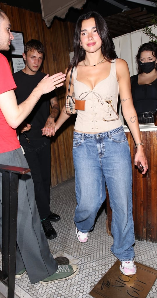 Dua Lipa Wearing a Pocket Watch With Anwar Hadid
