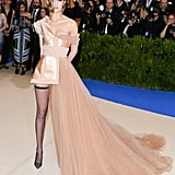 The model has a close relationship with Tommy Hilfiger, so it's no surprise she wore the designer to the 2017 Met Gala.