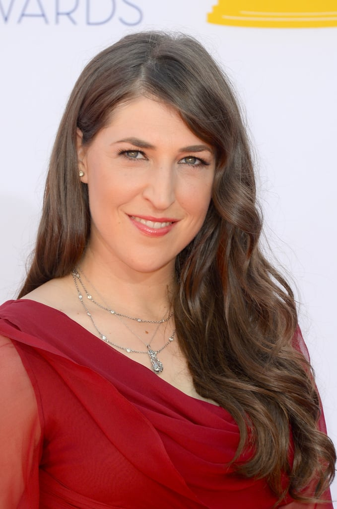 Mayim Bialik went red for the Emmys.