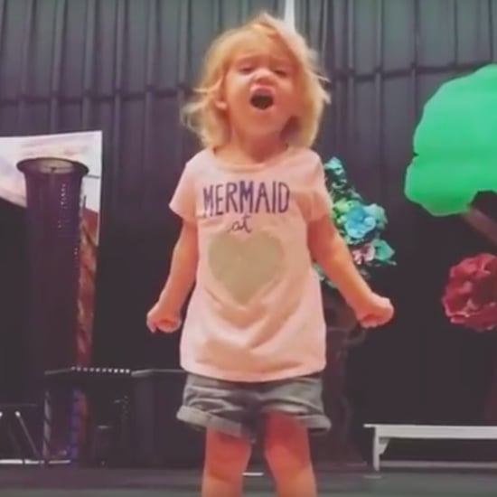 Toddler Passionately Singing the ABCs