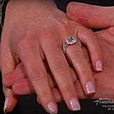 Close-up look at Lauren's engagement ring: