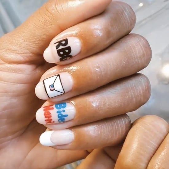 Hannah Bronfman's Election-Themed Nail Art