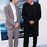 Robin Williams and Elijah Wood laughed with each other at the Happy Feet Two premiere in LA.