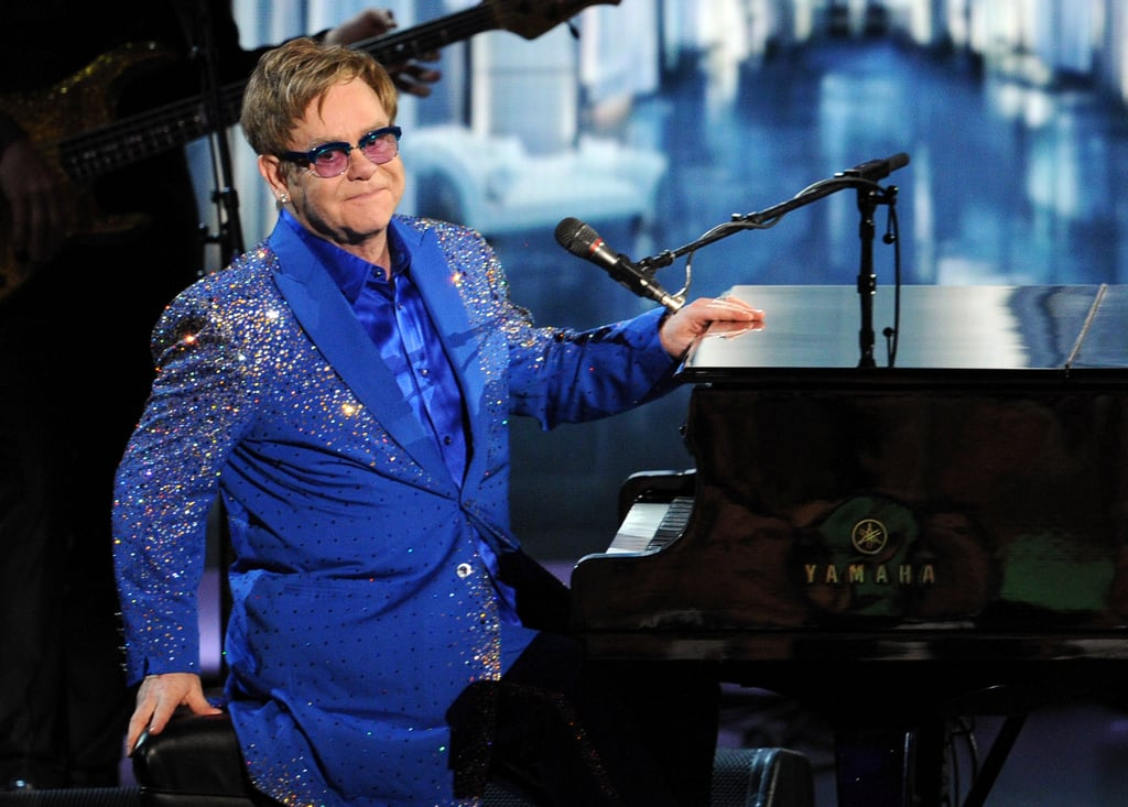 Elton John performed a song that he wrote as a tribute to Liberace.