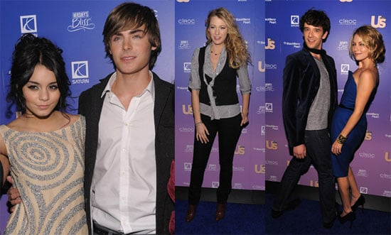 Photos of Zac Efron and Vanessa Hudgens, Blake Lively and Penn Badgley at Us Weekly Party
