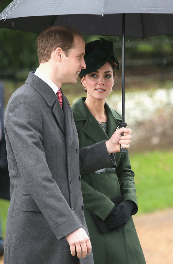 The Duchess of Cambridge Wearing a Green Coat and Hat
