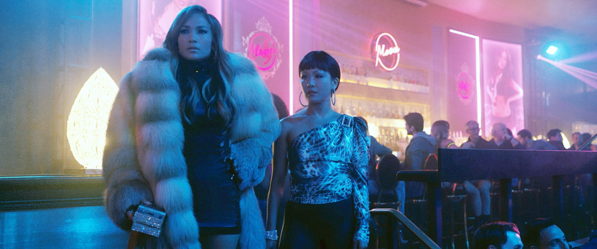 HUSTLERS, from left: Jennifer Lopez, Constance Wu, 2019.  STX Entertainment / courtesy Everett Collection