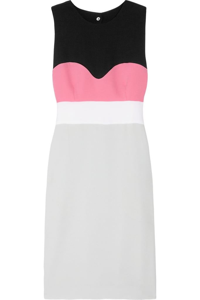 The colorblocked detail isn't just on-trend, it's also insanely figure-flattering.  Diane von Furstenberg Tamika Colorblock Stretch-Crepe Dress ($345)