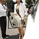 Kim Kardashian had help with her door arriving at an appointment.