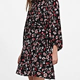 Print Tie-Waist Mini Dress