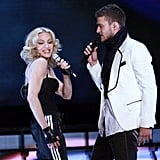 "Madonna and Justin performed ""Four Minutes"" in NYC during her April 2008 Hard Candy tour."