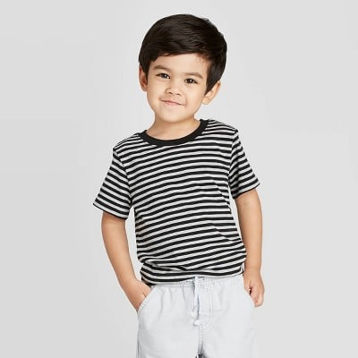 Short Sleeve Crew Stripe T-Shirt
