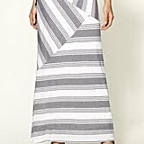 The asymmetrical patchwork design offers edgy movement to the basic striped fabric. Ella Moss Juniper Stripe Maxi Skirt ($148)