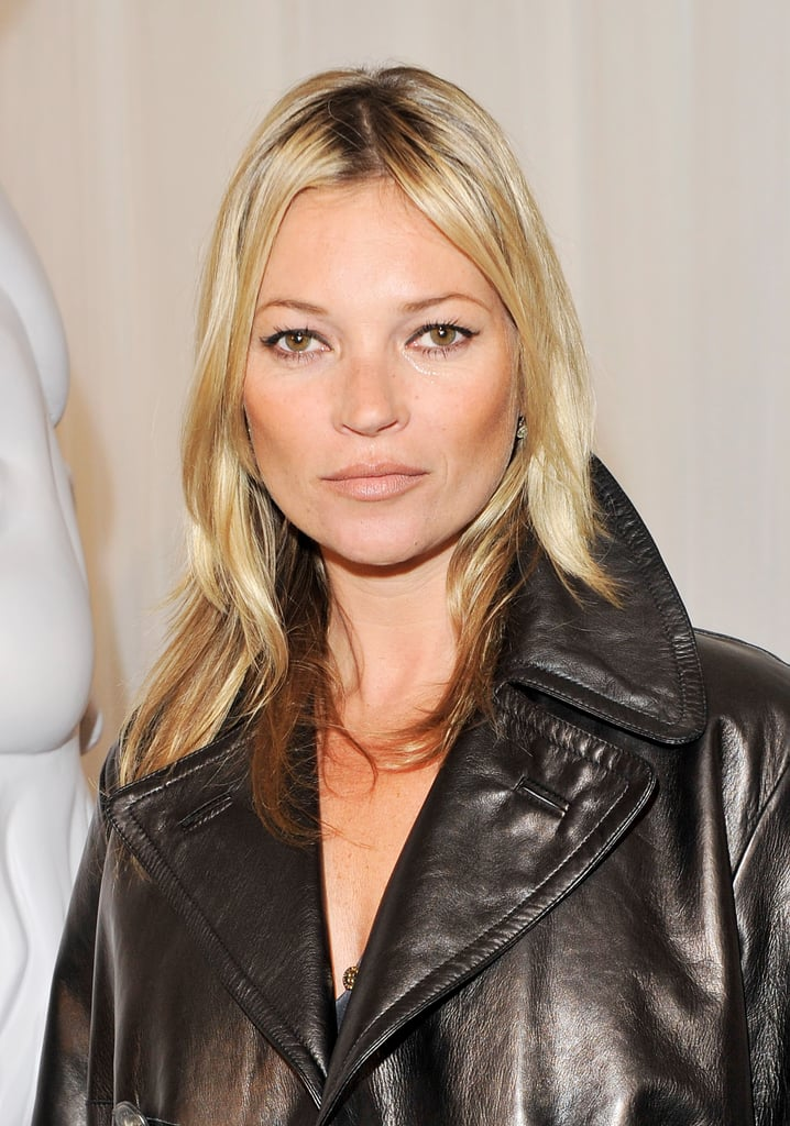 Kate Moss went to a London Fashion Week show.