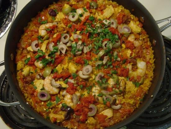 If at first you don't succeed, try, try again. We did with this paella recipe, and it was worth it!