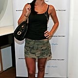 Audrina Patridge wasn't really camouflaging anything in that skirt.