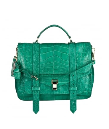 This Proenza Schouler Bottle Green PS1 Satchel ($14,500) is the ultimate Spring statement bag.