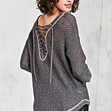 Kimchi Blue Lea Lace-Up Pullover Sweater ($59)