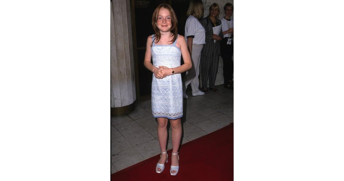 Lindsay Lohan 1998 Celebrities First Red Carpet