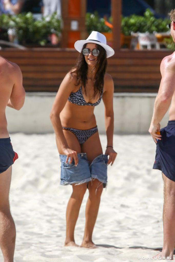 Nina Dobrev Bikini Pictures in Brazil December 2016