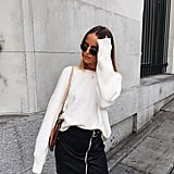 A Corduroy Buckled Skirt and Cozy Top