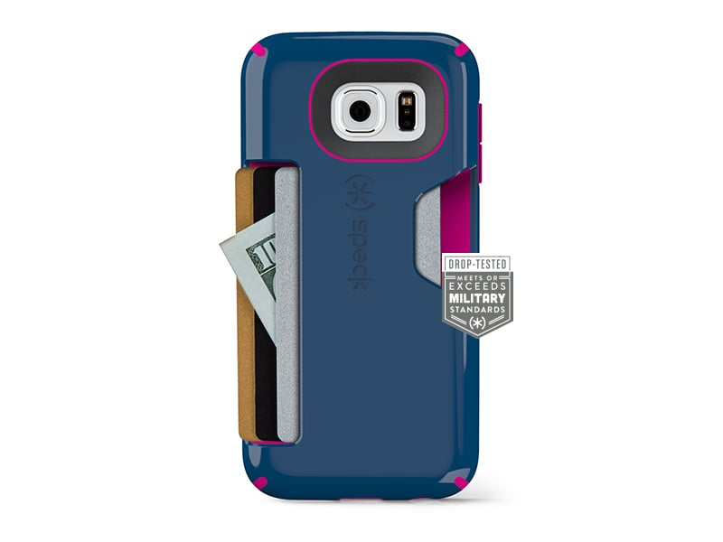 Speck CandyShell Card Case in Deep Sea Blue ($40)