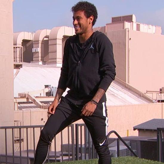 Neymar Making a Goal Across Hollywood Boulevard Video