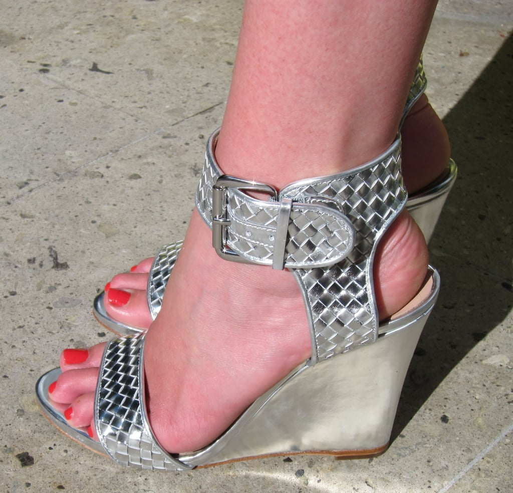 These metallic wedges mean business.