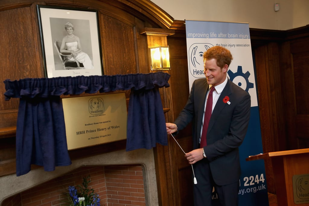 Another cause Harry has taken over form his mother is Headway, the charity that works with those who have suffered brain injuries. Diana became patron in 1991, and Harry made a visit in 2013 when he opened their new headquarters in Nottingham.
