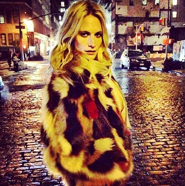 Poppy Delevingne explored New York by moonlight. Source: Instagram user poppydelevingne